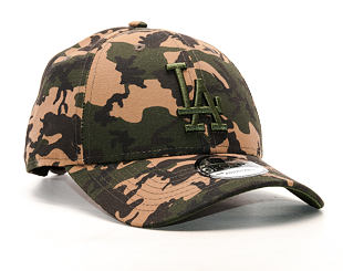 Kšiltovka New Era Seasonal Camo Los Angeles Dodgers 9FORTY Woodland Camo Strapback