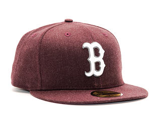 Kšiltovka New Era Seasonal Heather Boston Red Sox 59FIFTY Heather Maroon/White