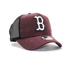 Dětská Kšiltovka New Era Seas Heather Aframe Trucker Boston Red Sox 9FORTY Youth Heather Maroon/Whit