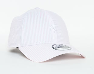 Kšiltovka New Era  Seersucker New York Yankees 9FORTY Strapback Pink / Optic White