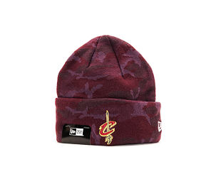 Kulich New Era Essential Camo Knit Cleveland Cavaliers Maroon/Camo