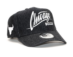 Kšiltovka New Era 9FORTY A-Frame Chicago Bulls Denim Black
