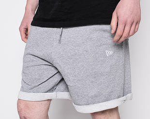 Kraťasy New Era Essential Shorts Light Gray Heather