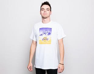 Triko New Era Photo Print Los Angeles Lakers White