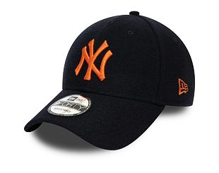 Kšiltovka New Era 9FORTY New York Yankees Melton Navy/Rust Orange