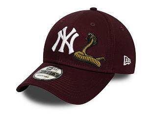 Kšiltovka New Era 9FORTY New York Yankees Twine Maroon