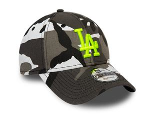Kšiltovka NEW ERA 940 MLB Camo Neon Infill Essential Los Angeles Dodgers
