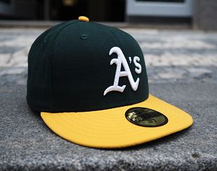 Kšiltovka New Era 59FIFTY Authentic Performance Oakland Athletics