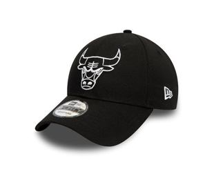 Kšiltovka NEW ERA 9FORTY NBA Essential Outline Chicago Bulls Strapback Black