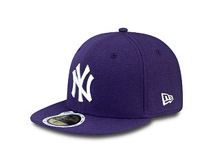 Dětská kšiltovka NEW ERA 59FIFTY Kids MLB League Basic New York Yankees Fitted Purple / White