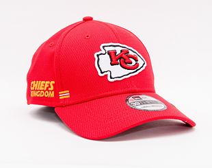 Kšiltovka New Era 39THIRTY NFL20 Sideline Home Kansas City Chiefs Stretch Fit Team Color