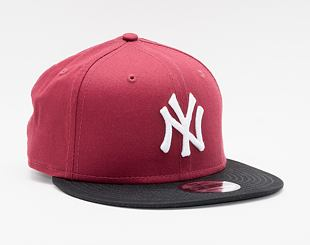 Kšiltovka New Era 9FIFTY MLB Color Block New York Yankees Snapback Cardinal / Black