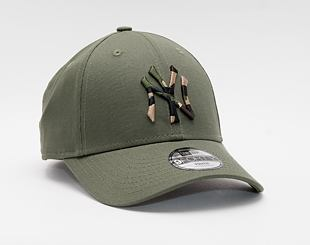 Dětská Kšiltovka New Era 9FORTY Kids MLB Camo Infill New York Yankees Strapback New Olive / Woodland