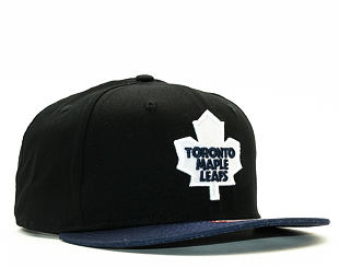 Kšiltovka New Era Cotton Block 3 Toronto Maple Leafs Black Snapback