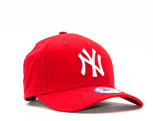Dětská Kšiltovka New Era League Basic New York Yankees Scarlet/White 9FORTY YOUTH Strapback