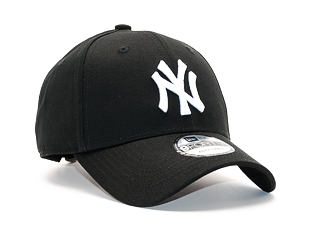 Kšiltovka New Era 9FORTY MLB League Basic New York Yankees Strapback Black / White