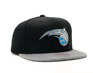 Kšiltovka Mitchell & Ness Fuzz 2 Tone Orlando Magic Black/Grey Heather Snapback