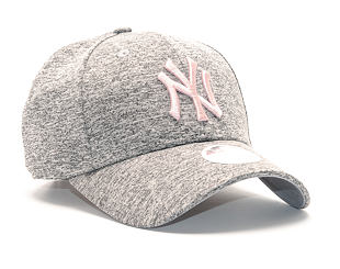 Dámská Kšiltovka New Era Tech Jersey New York Yankees 9FORTY Gray/Pink Strapback