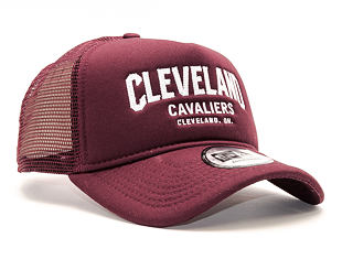 Kšiltovka New Era Chainstitch Trucker Cleveland Cavaliers 9FORTY Maroon/White Snapback