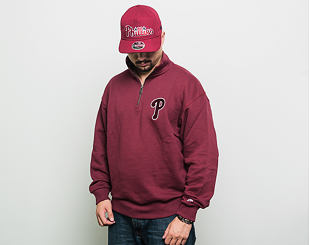Mikina New Era Postgradual Pack Turtle Neck Philadelphia Phillies Burgundy