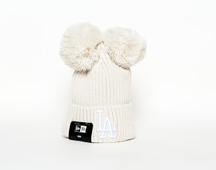 Dětský Kulich New Era Double Pom Cuff Knit Los Angeles Dodgers Youth White