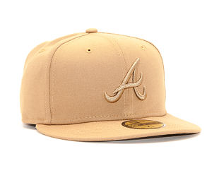 Kšiltovka New Era 59FIFTY Atlanta Braves League Essential Wheat