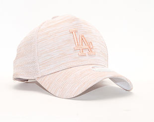 Dámská Kšiltovka New Era 9FORTY A-Frame Trucker Los Angeles Dodgers Engineered Fit White/Satin/Peach