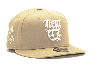 Kšiltovka New Era 9FIFTY Script Camel/White