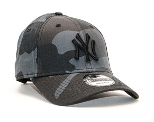 Kšiltovka New Era 9FORTY MLB League Essential New York Yankees Strapback Moonland Camo / Black