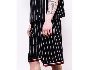 Kraťasy Karl Kani Signature Mesh Shorts 6013995 Black/White/Red