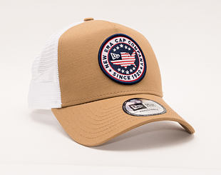 Kšiltovka New Era 9FORTY Trucker USA Patch Camo
