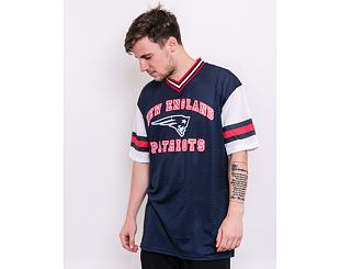 Triko New Era NFL Stripe Sleeve Oversized Tee New England Patriots Oceanside Blue