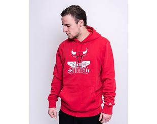 Mikina New Era Graphic Pull Over Hoody Chicago Bulls Front Door Red