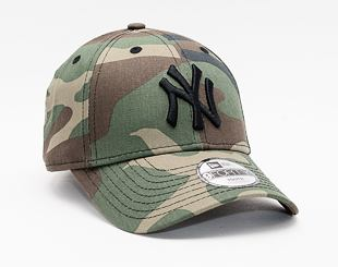 Dětská kšiltovka New Era 9FORTY The League Essential kids New York Yankees Strapback Woodland Camo