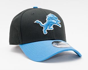 Kšiltovka New Era 9FORTY NFL The League Detroit Lions Strapback Black / Rainstorm Blue