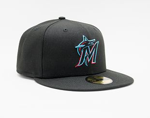 Kšiltovka New Era 59FIFTY MLB Authentic Performance Miami Marlins Fitted Team Color