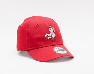 Kšiltovka New Era 9FORTY Kids Infant film Character Pinocchio Strapback Scarlet