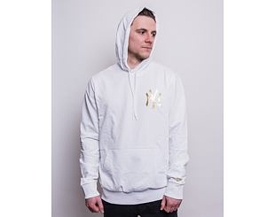 Mikina New Era MLB Metallic Hoody New York Yankees Optic White/Gold