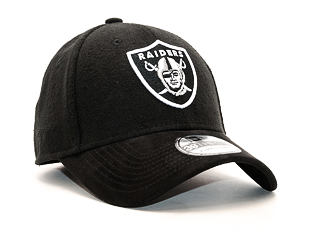 Kšiltovka New Era Team Melton Suede Oakland Raiders Black 39THIRTY Stretchfit