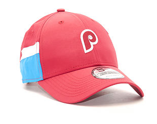Kšiltovka New Era Side Block Curve Philadelphia Phillies 9FORTY Red/Blue Strapback