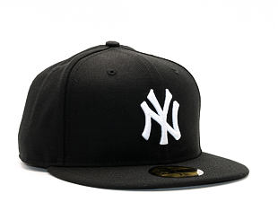 Kšiltovka New Era 59FIFTY MLB Basic New York Yankees Fitted Black / White Log