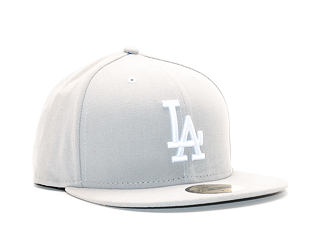 Kšiltovka New Era Basic Los Angeles 59FIFTY Gray/White