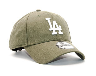 Kšiltovka New Era Seasonal Heather Los Angeles Dodgers 9FORTY Heather Olive/White Strapback