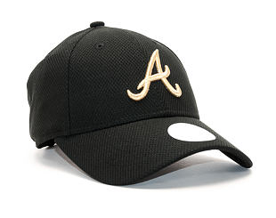 Dámská Kšiltovka New Era Sport Atlanta Braves 9FORTY Black/Gold Strapback