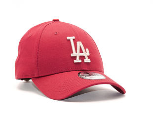 Kšiltovka New Era  League Essential  Los Angeles Dodgers 9FORTY Strapback Cardinal / Stone