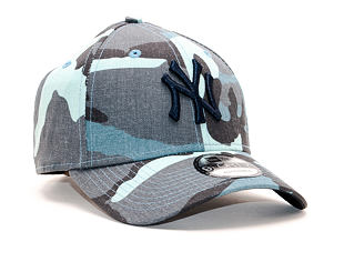 Kšiltovka New Era 9FORTY New York Yankees Camo Essential Light Navy Camo Strapback