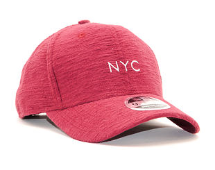 Kšiltovka New Era 9FIFTY NYC Stretch Snap Slub Cardinal/White