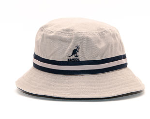 Klobouk Kangol K4012SP Stripe Lahinch Grey GR034