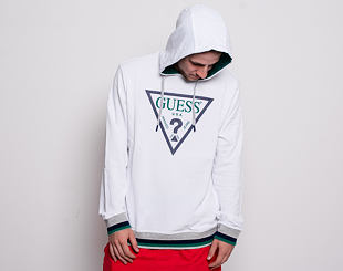 Mikina Guess Perce Hoodie Fleece True White