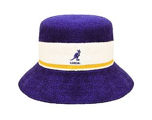 Klobouk Kangol K3326ST Bermuda Stripe Bucket Grape